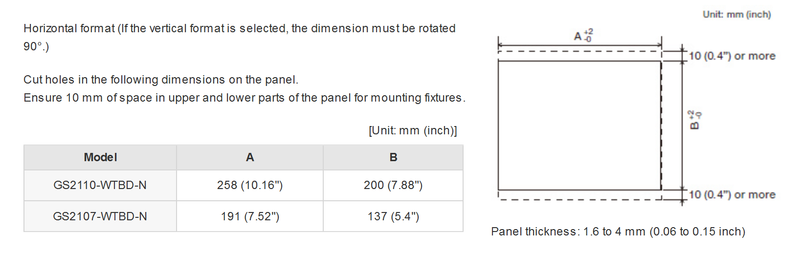 GS21-N Sseries Dimensions 3