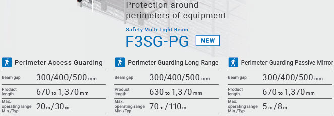 F3SG-SR / PG Series Features 5